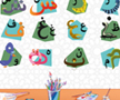 Coloriages de l'alphabet arabe